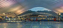 Liège - Guillemins zur blauen Stunde