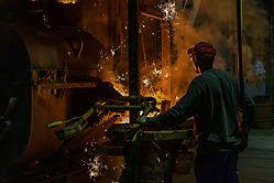 Arbeit in der Gießerei