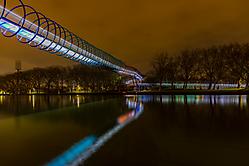 Slinky bridge und Rhein-Herne-Kanal