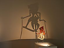 Licht- und Schattenfigur