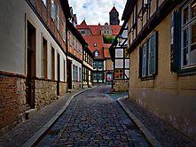 Quedlinburg Gasse ohne Autos
