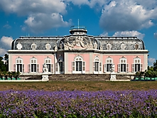 Schloss Benrath Rueckansicht