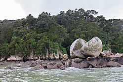 Apple Rock im Able Tasman National Park