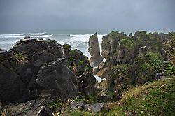 Pancake Rocks an der Westküste der Südinsel