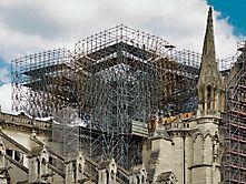 Verbranntes Gerüst Notre Dame