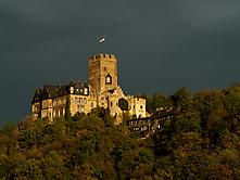 Burg Lahneck zur goldenen Stunde
