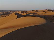 Sanddünen, kurz nach Sonnenaufgang