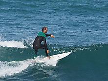 Surfer in Caleta de Famara, Lanzarote