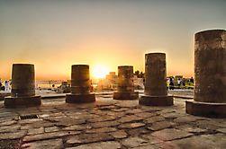 Kom Ombo - Säulenstümpfe im Abendlicht
