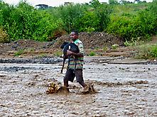 Rettung aus Hochwasser Äthiopien