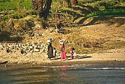 Waschtag am Nil