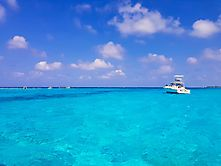 Karibik, blau in blau