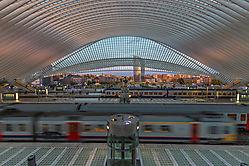 Bahnhof Liège gegen Abend