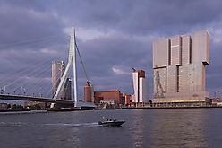 Rotterdam - Erasmusbrug und Kop van Zuid