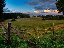 Abendlicher Blick auf Oberberge