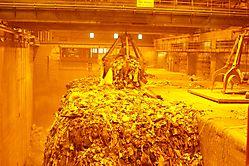 Müll vor der Verbrennung