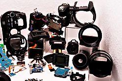 Kamera in Einzelteilen
