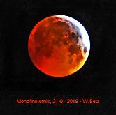 Mondfinsternis, der rote Mond